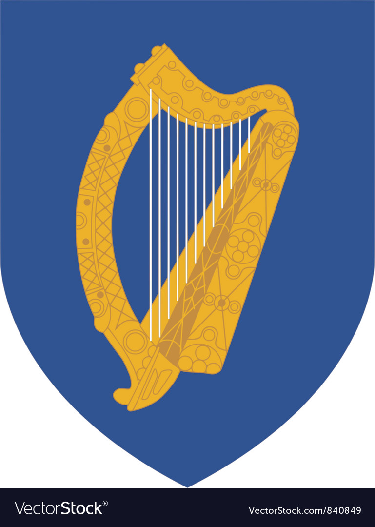 Coat of arms of ireland vector | Price: 1 Credit (USD $1)