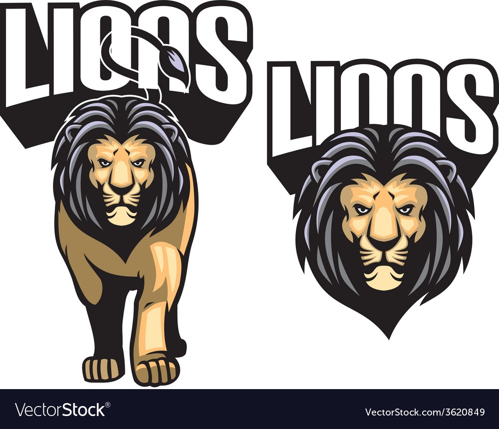 Majestic lion mascot vector | Price: 3 Credit (USD $3)