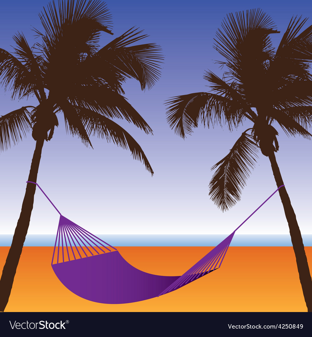 Palm hammock vector   Price: 1 Credit (USD $1)