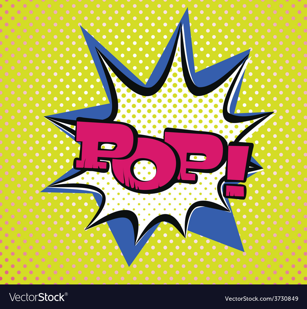 Pop art style typography vector   Price: 1 Credit (USD $1)
