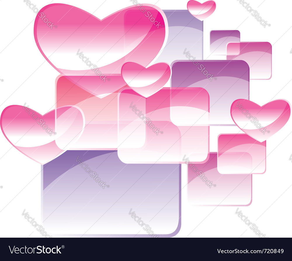Square and heart vector | Price: 1 Credit (USD $1)