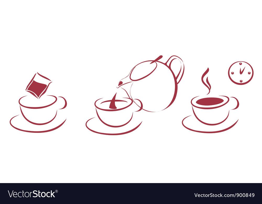 Tea brewing scheme vector | Price: 1 Credit (USD $1)