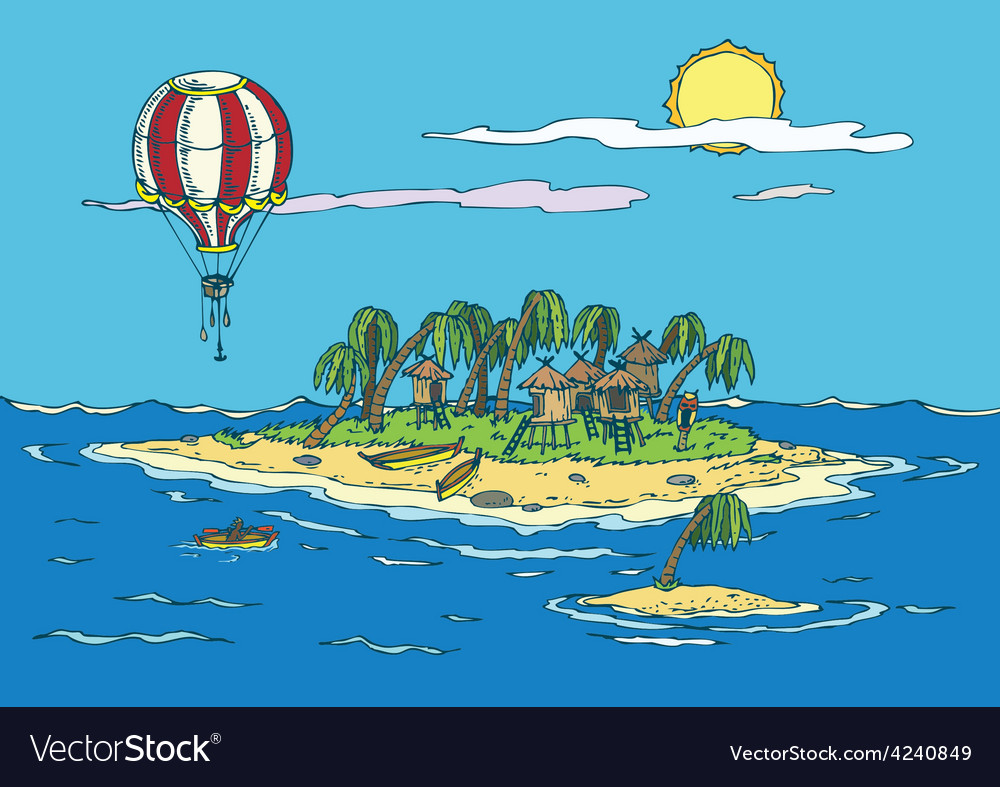 Tropical paradise vector | Price: 3 Credit (USD $3)