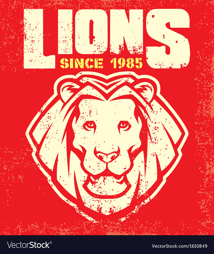 Vintage lion mascot vector | Price: 1 Credit (USD $1)