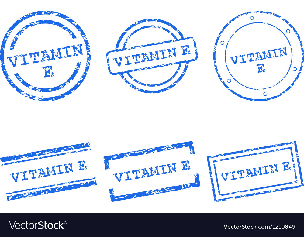 Vitamin e stamps vector | Price: 1 Credit (USD $1)