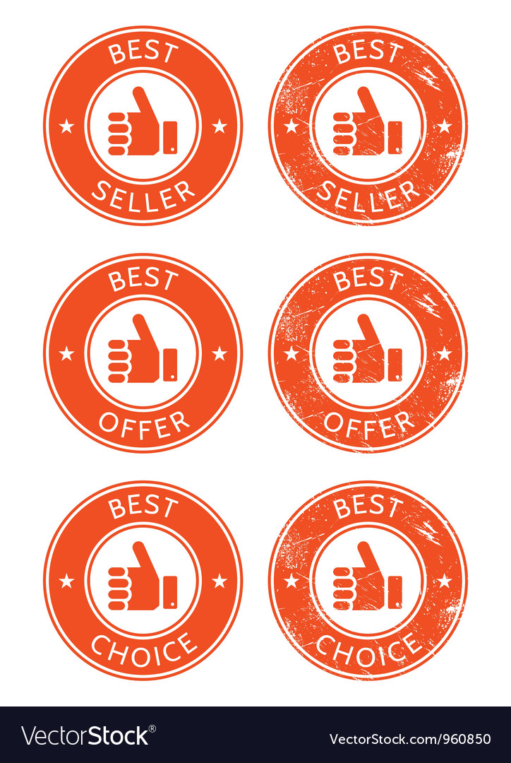 Best seller choice offer retro grunge badges vector | Price: 1 Credit (USD $1)