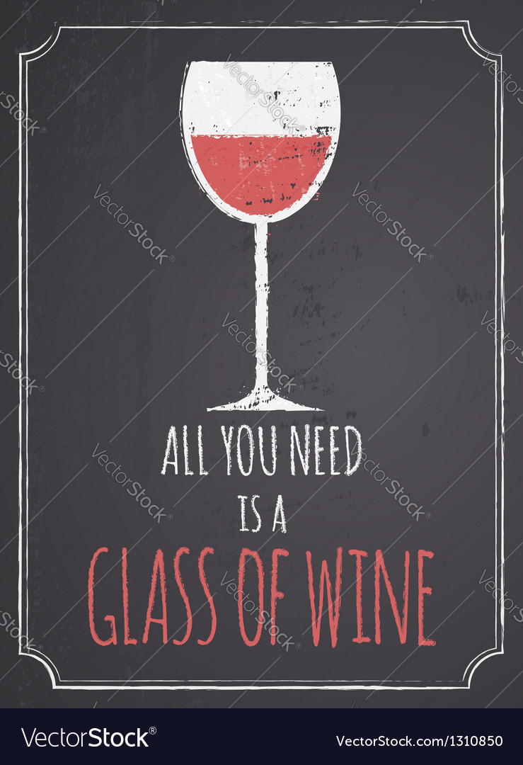 Chalkboard red wine design vector | Price: 1 Credit (USD $1)