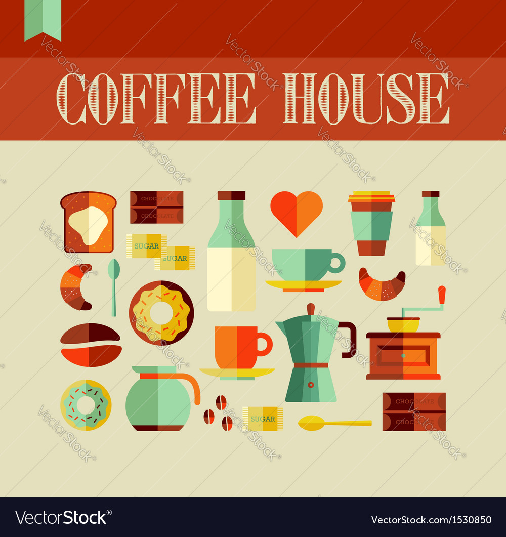 Coffee house concept vector | Price: 1 Credit (USD $1)