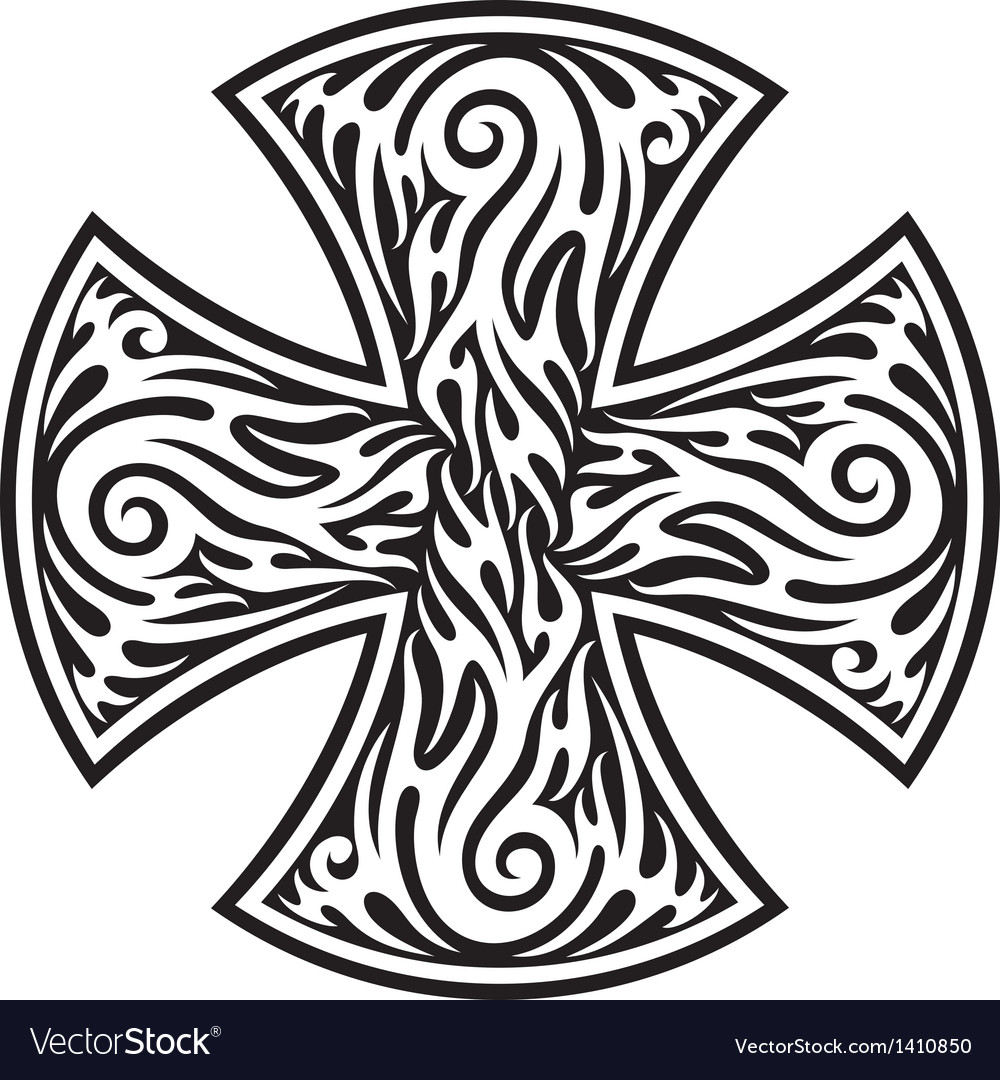 Cross tribal tattoo vector | Price: 1 Credit (USD $1)