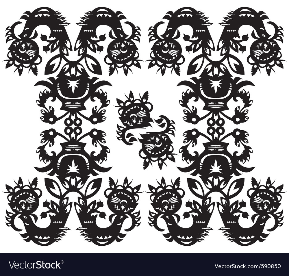 Decorative floral pattern vector | Price: 1 Credit (USD $1)