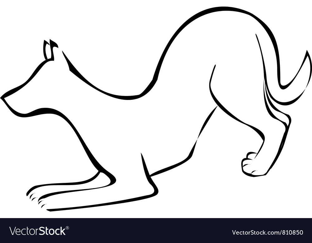 Dog silhouette logo vector | Price: 1 Credit (USD $1)