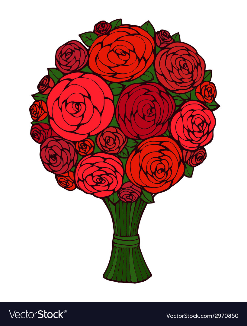 Floral bouquet vector | Price: 1 Credit (USD $1)