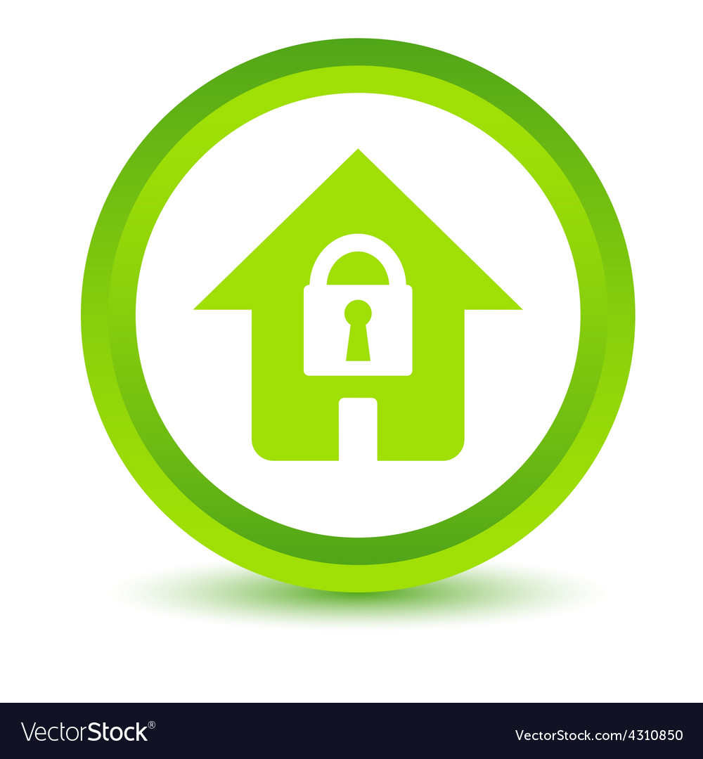 Green lock icon vector | Price: 1 Credit (USD $1)