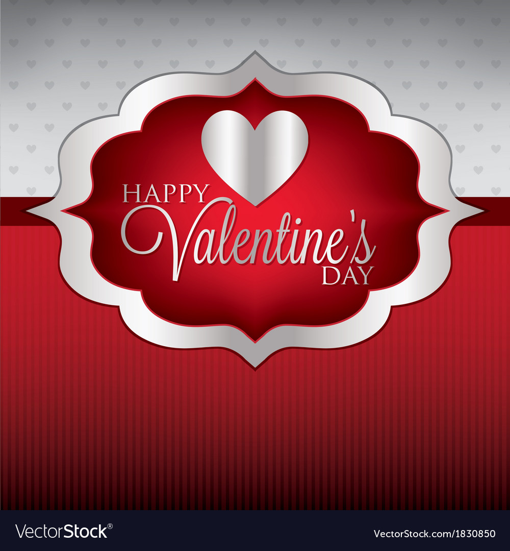 Label valentines day heart cardinvitation in vector | Price: 1 Credit (USD $1)