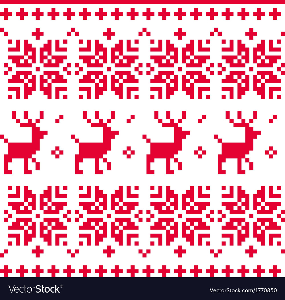 Nordic seamless knitted christmas pattern vector   Price: 1 Credit (USD $1)