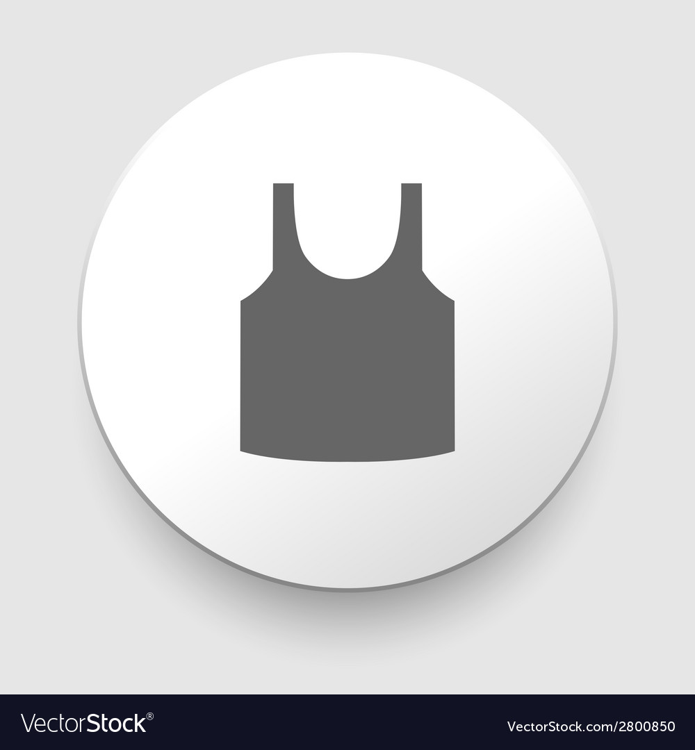 Singlet sleeveless shirt icon vector | Price: 1 Credit (USD $1)