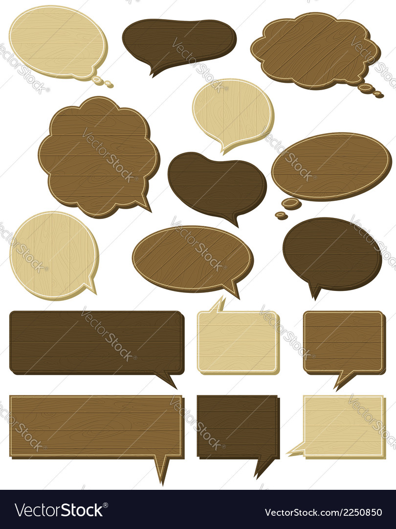Sixteen wooden labels vector | Price: 1 Credit (USD $1)