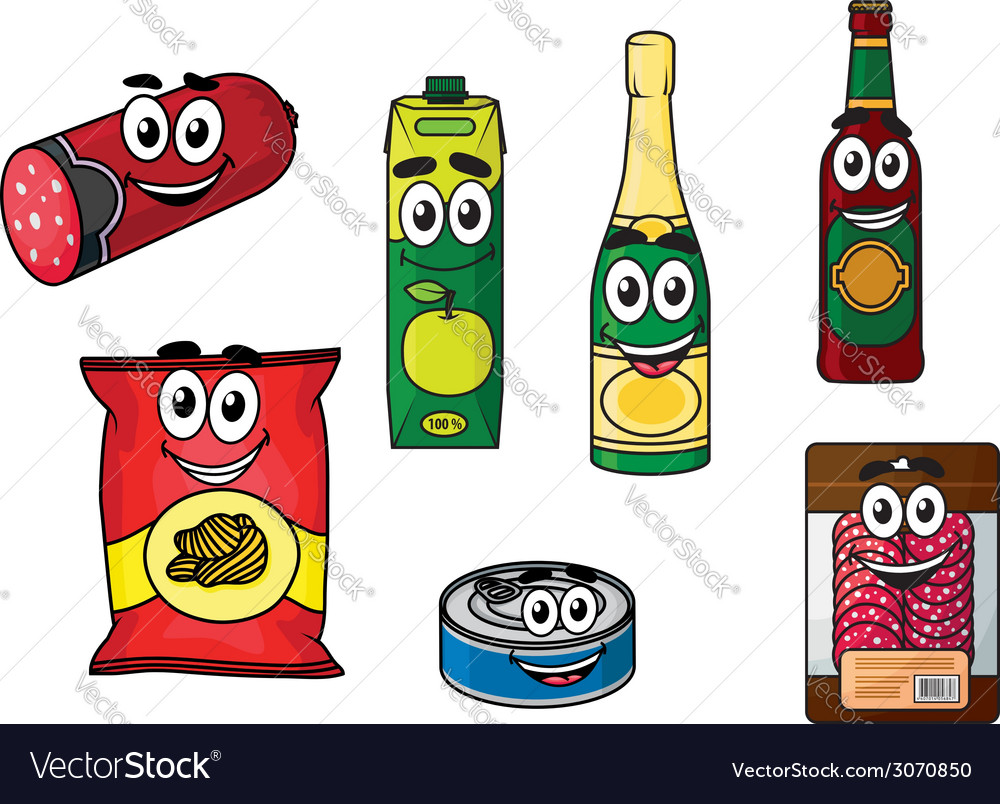 Supermarket groceries colored icons vector   Price: 1 Credit (USD $1)