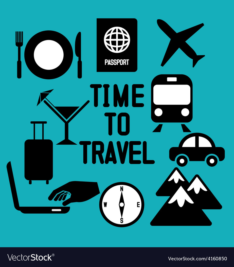 Traveling and transport icons for web and mobile a vector | Price: 1 Credit (USD $1)