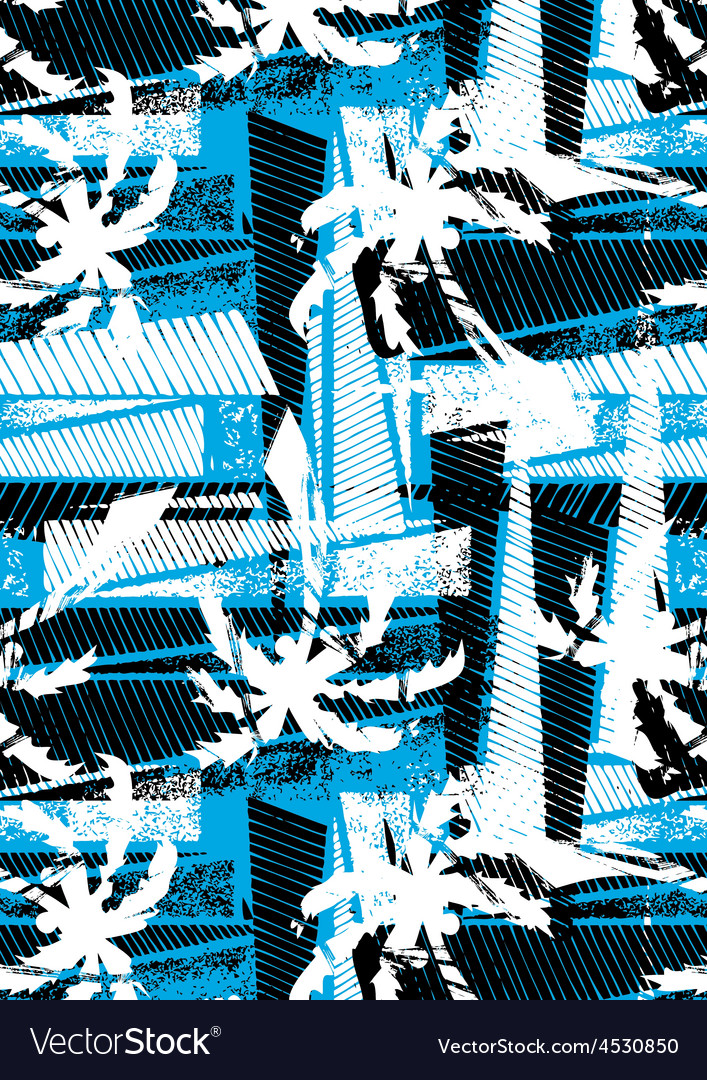 Tropical palm stencil pattern vector | Price: 1 Credit (USD $1)
