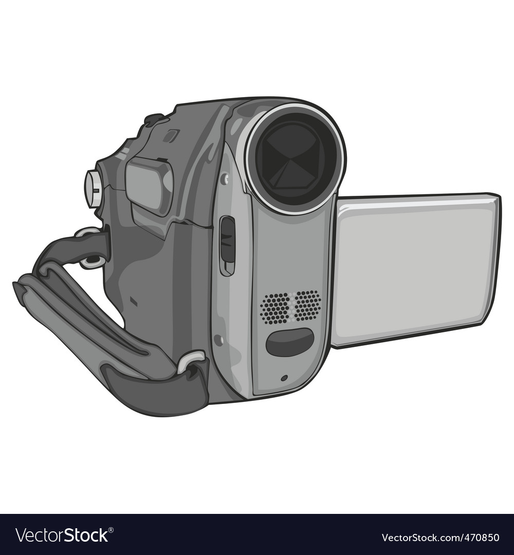 Video cam on white background vector | Price: 1 Credit (USD $1)