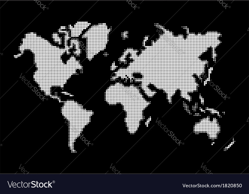 World map white dots atlas composition eps10 file vector | Price: 1 Credit (USD $1)