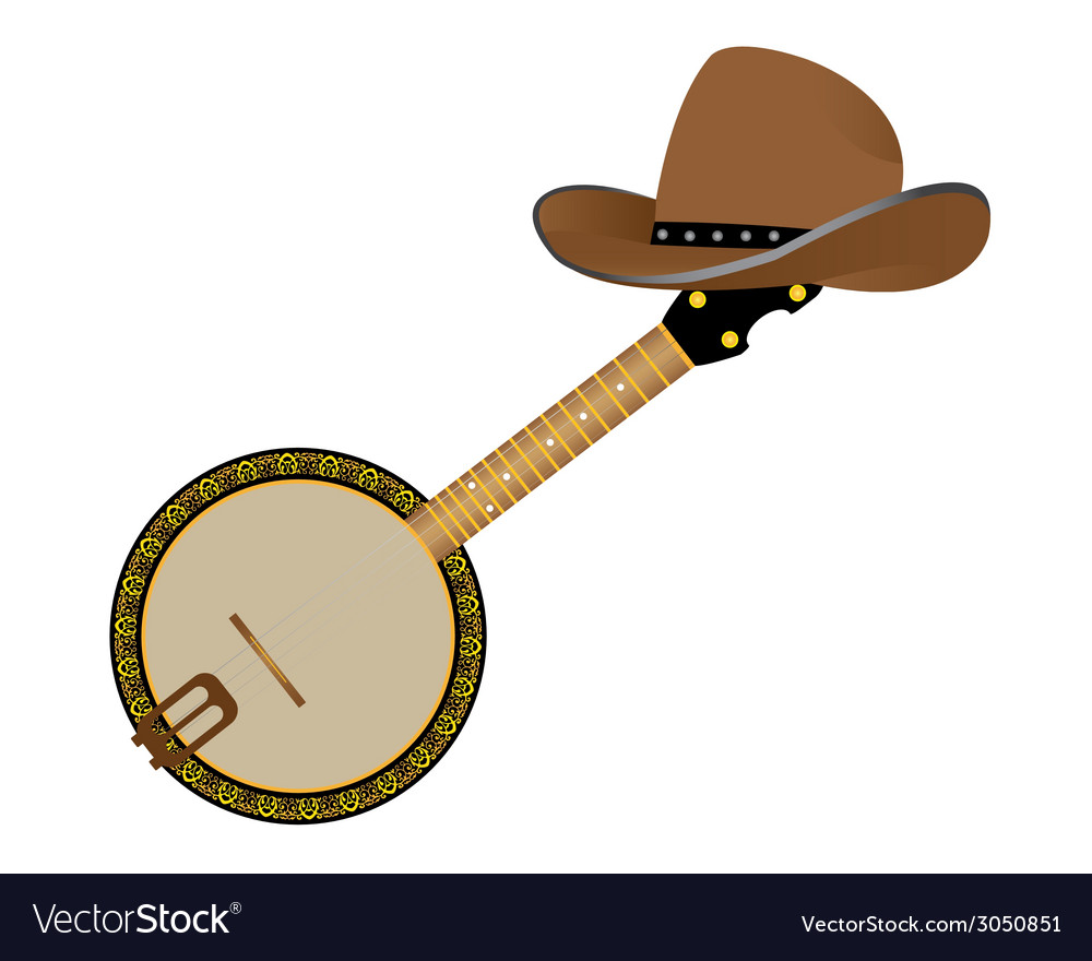 Banjo and hat vector | Price: 1 Credit (USD $1)