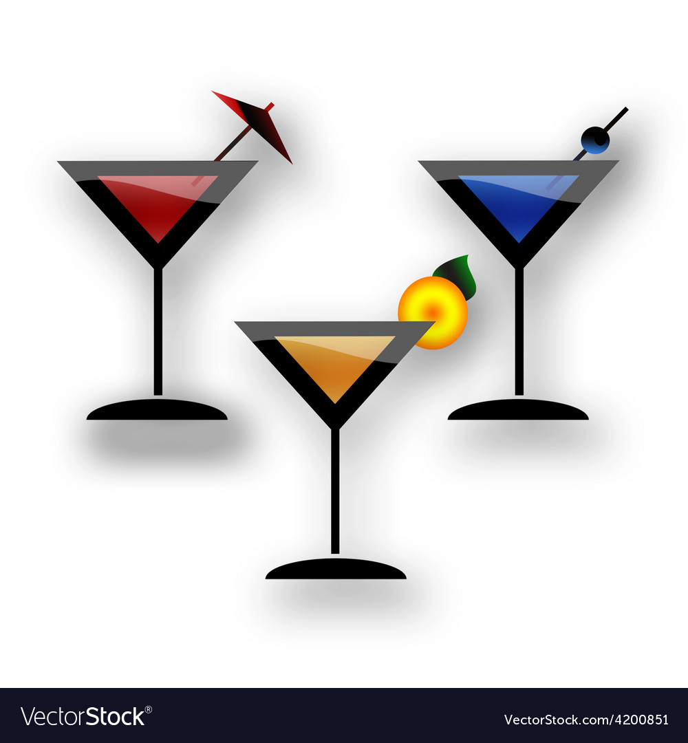 Coctail martini party vector | Price: 1 Credit (USD $1)