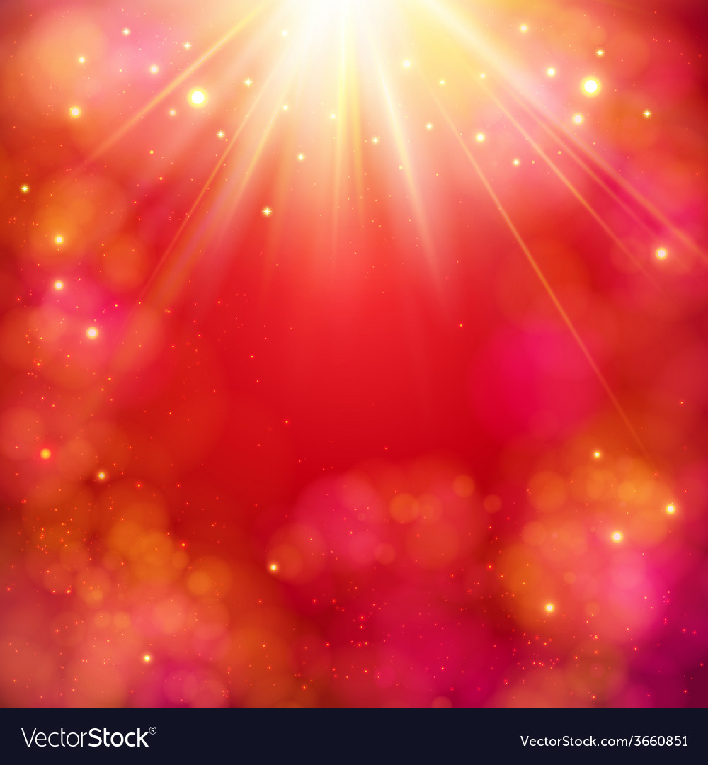 Dynamic red abstract background with sunburst vector