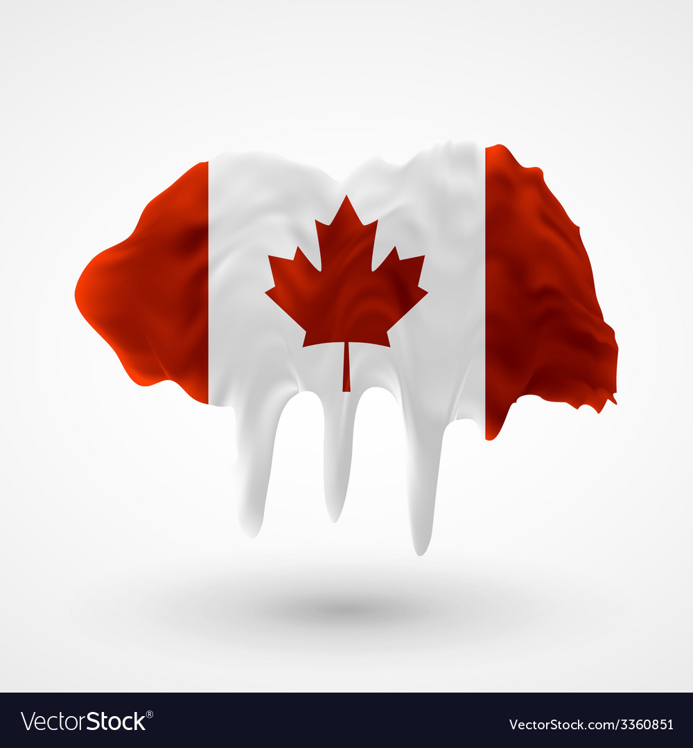 Flag of canada painted colors vector | Price: 3 Credit (USD $3)