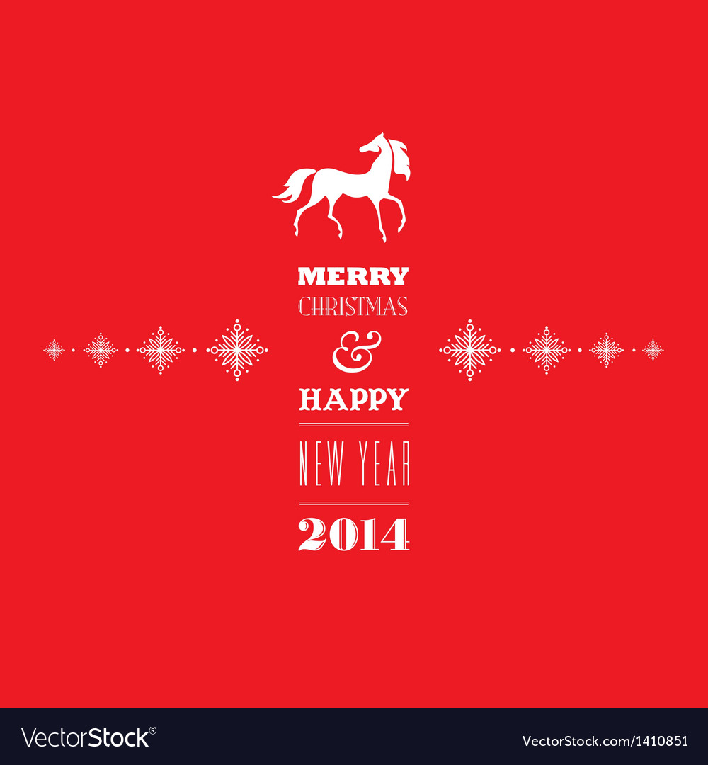 Merry christmas and happy new 2014 year vector | Price: 1 Credit (USD $1)
