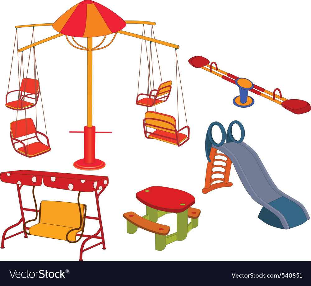 Park playground vector | Price: 1 Credit (USD $1)