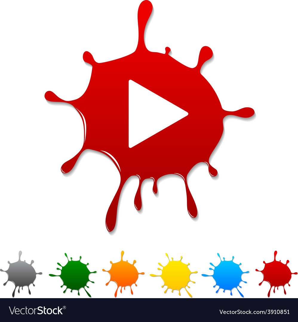 Play blot vector | Price: 1 Credit (USD $1)