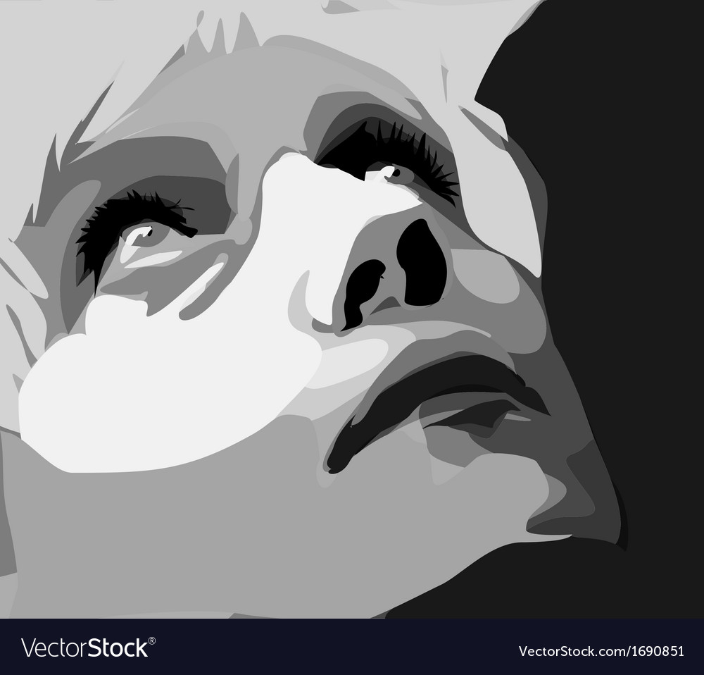 Portrait of a women vector | Price: 1 Credit (USD $1)