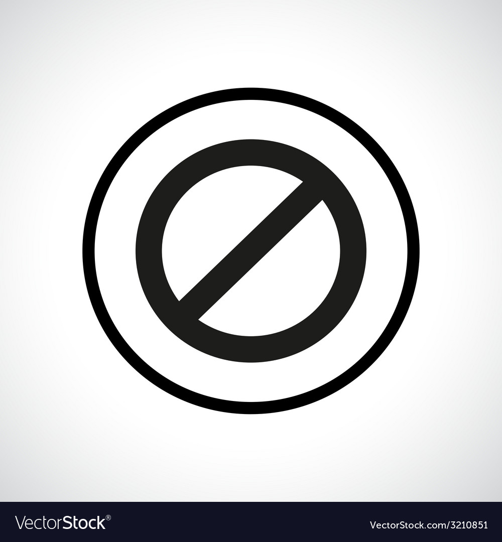 Prohibition symbol vector | Price: 1 Credit (USD $1)
