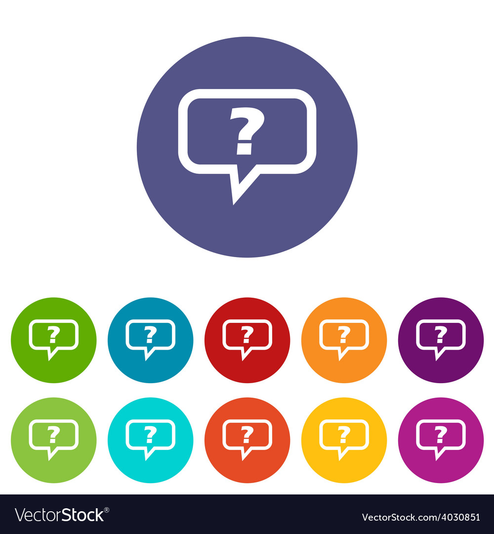 Question flat icon vector | Price: 1 Credit (USD $1)