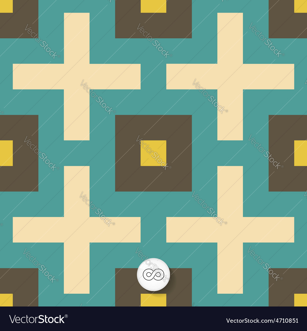Seamless mosaic pattern geometric background vector | Price: 1 Credit (USD $1)