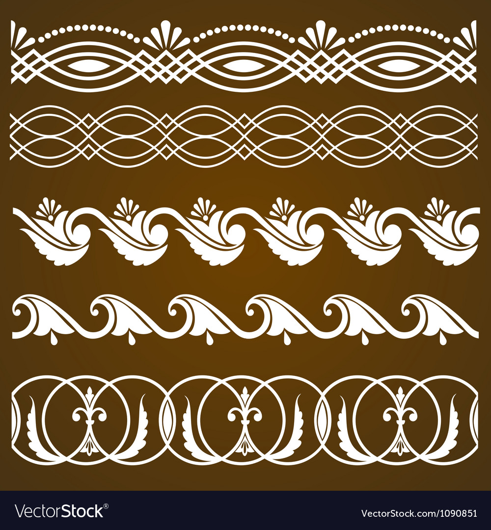 Set of vintage calligraphic ornaments vector   Price: 1 Credit (USD $1)