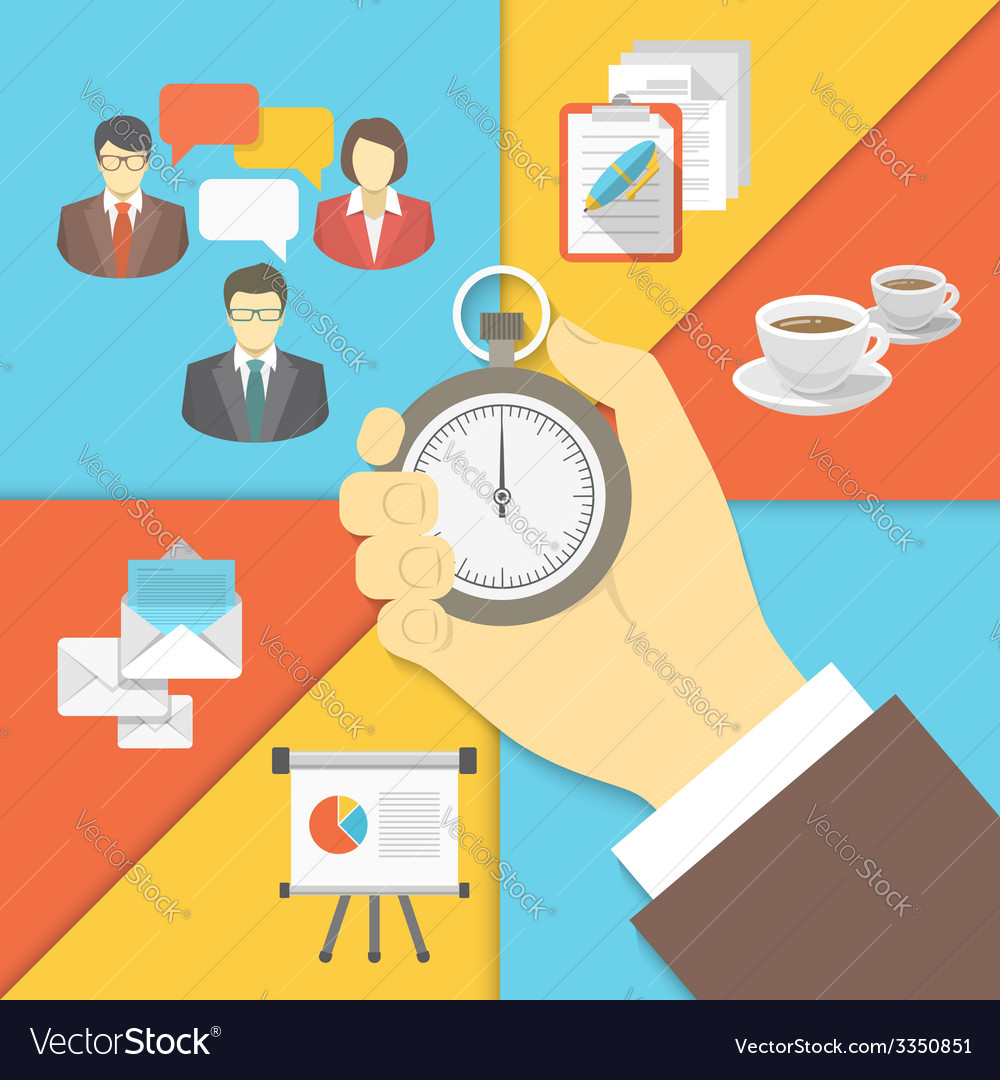 Time management business concept vector | Price: 1 Credit (USD $1)