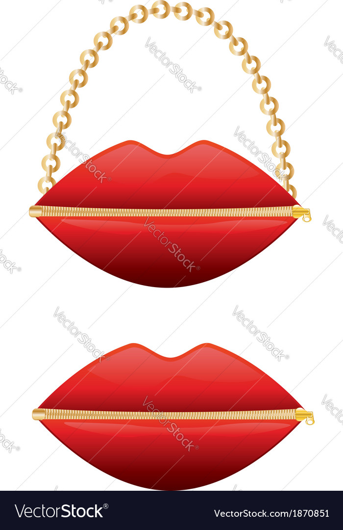 Zipper mouth purse vector | Price: 1 Credit (USD $1)