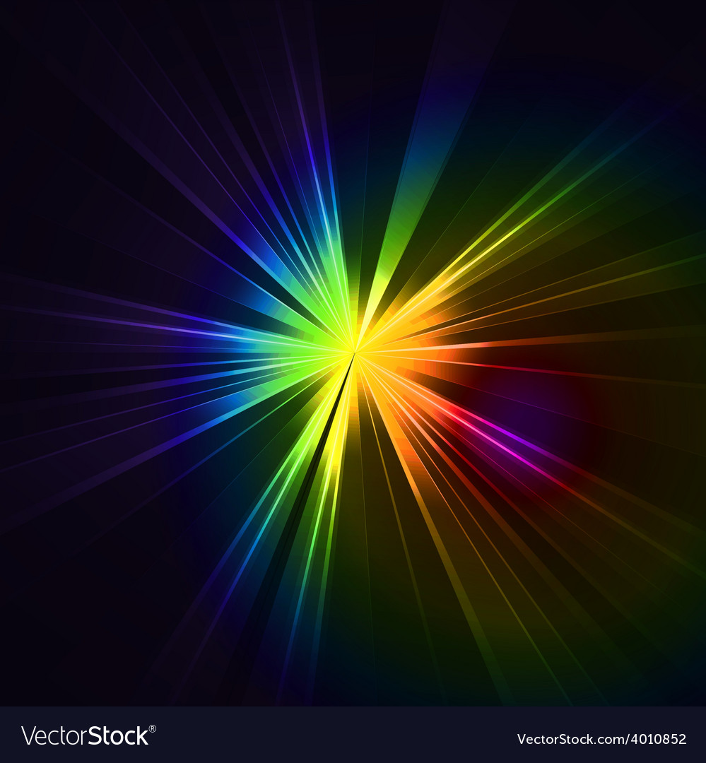 Abstract flash star light colorful exploding vector | Price: 1 Credit (USD $1)