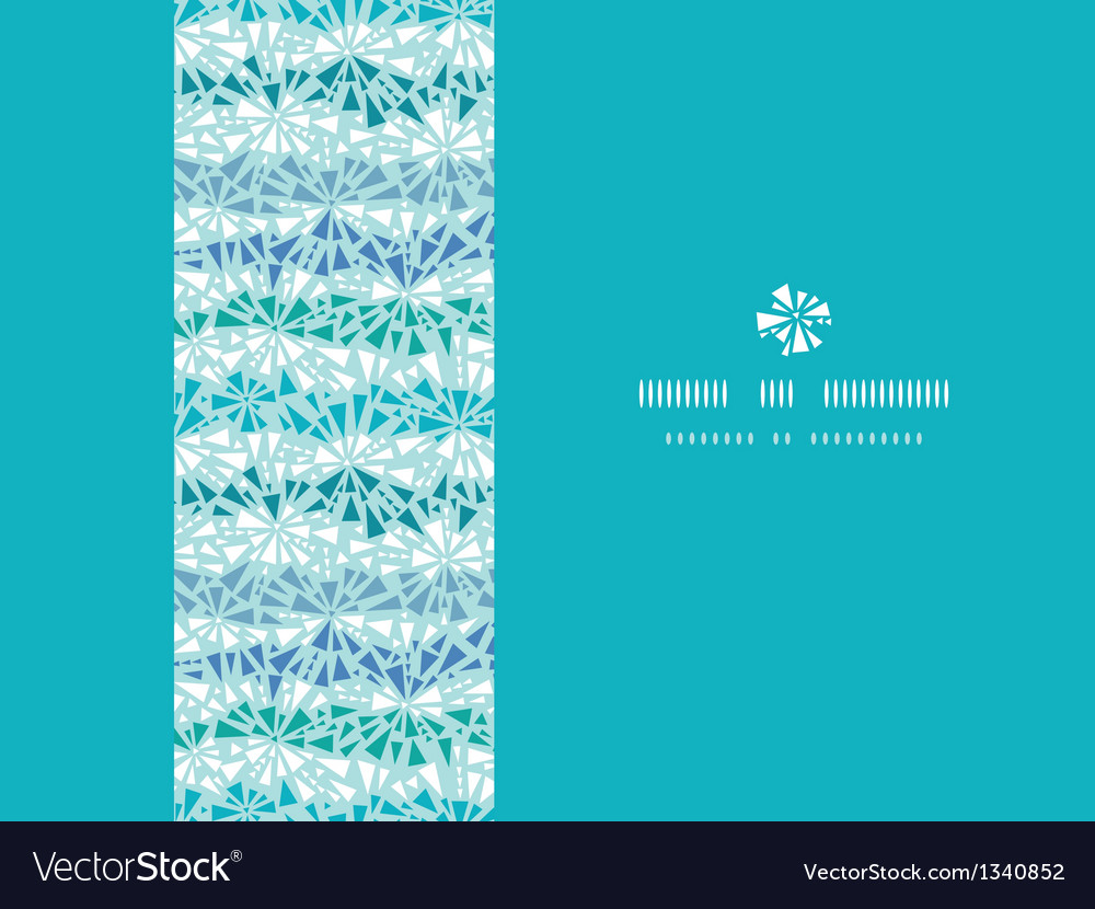 Abstract ice chrystals texture horizontal seamless vector | Price: 1 Credit (USD $1)