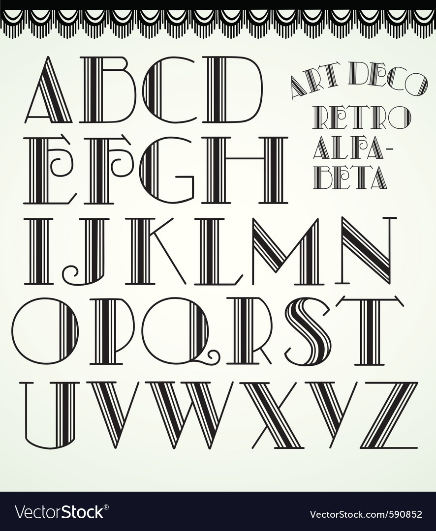 Art deco alphabet vector | Price: 1 Credit (USD $1)