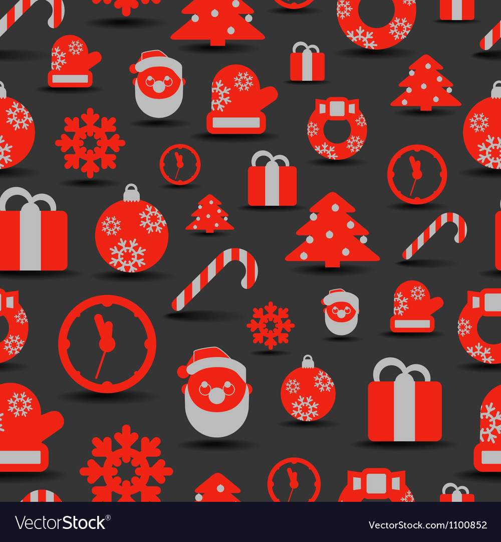 Christmas silhouettes seamless background vector | Price: 1 Credit (USD $1)