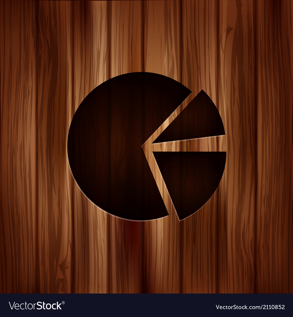 Circular diagram web icon wooden texture vector | Price: 1 Credit (USD $1)