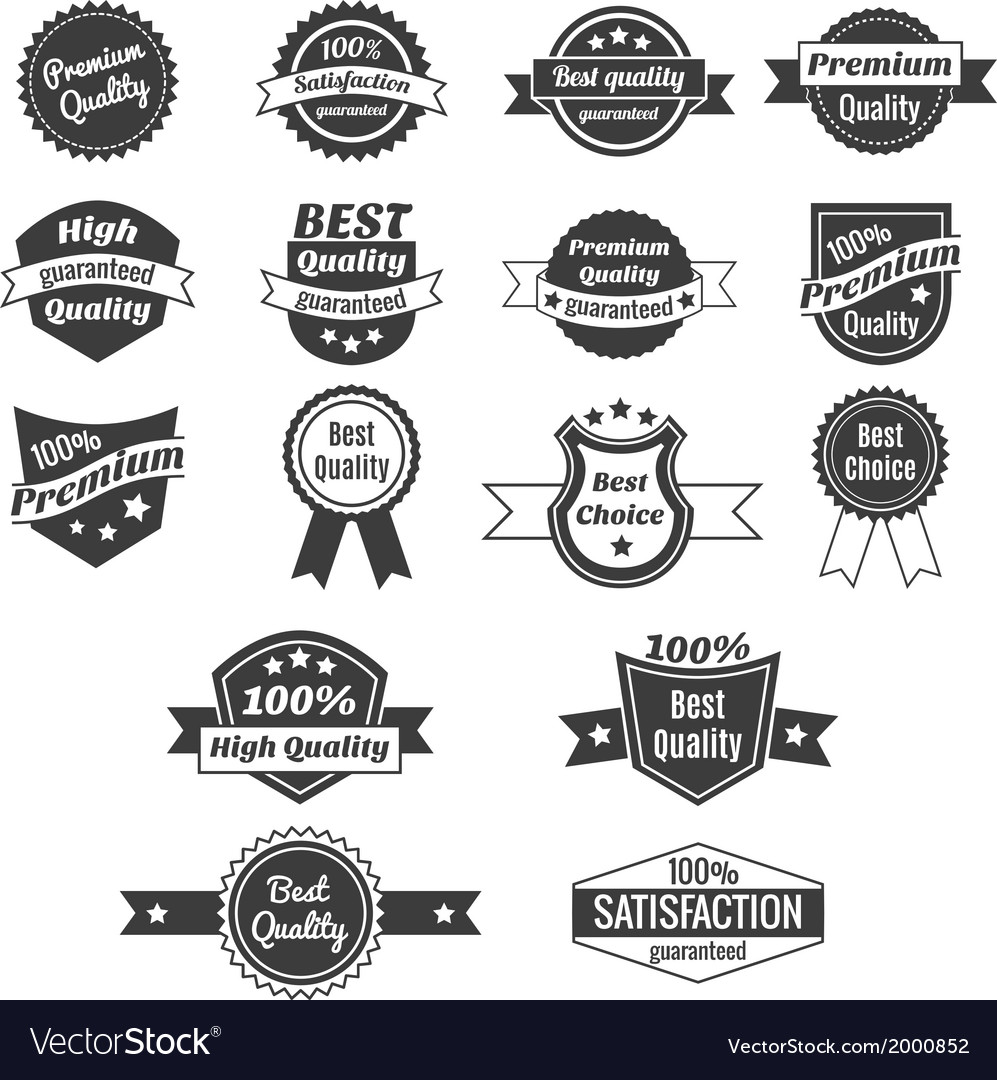 Collection of product price labels vector | Price: 1 Credit (USD $1)