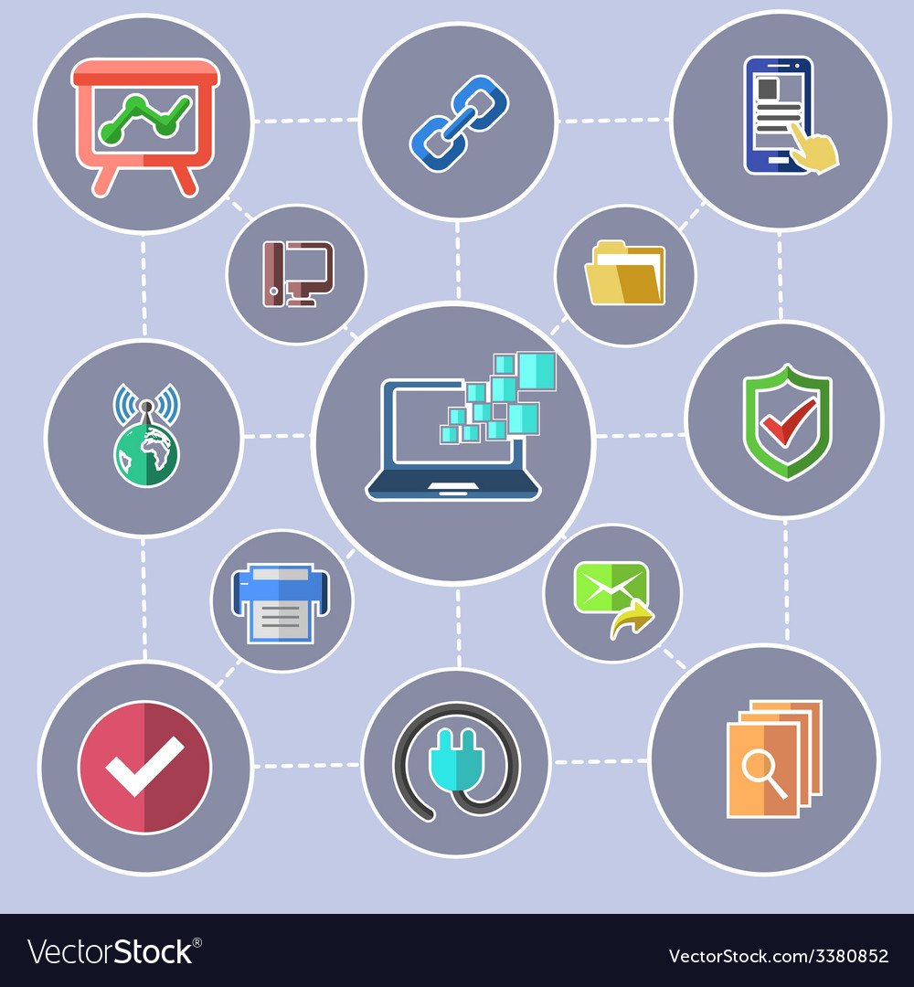 Data transfer and web security technology concept vector | Price: 1 Credit (USD $1)