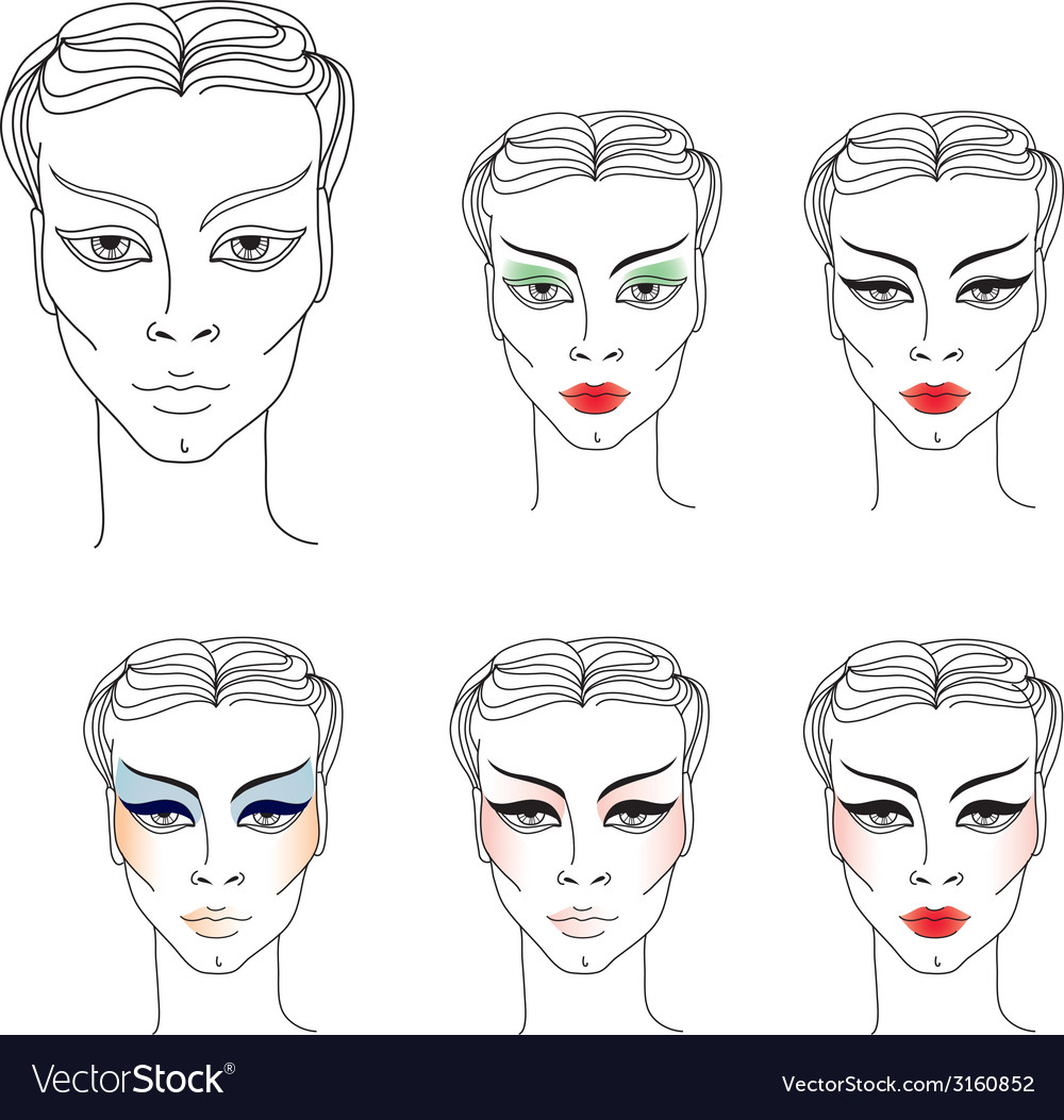 Flower girl makeup vector | Price: 1 Credit (USD $1)