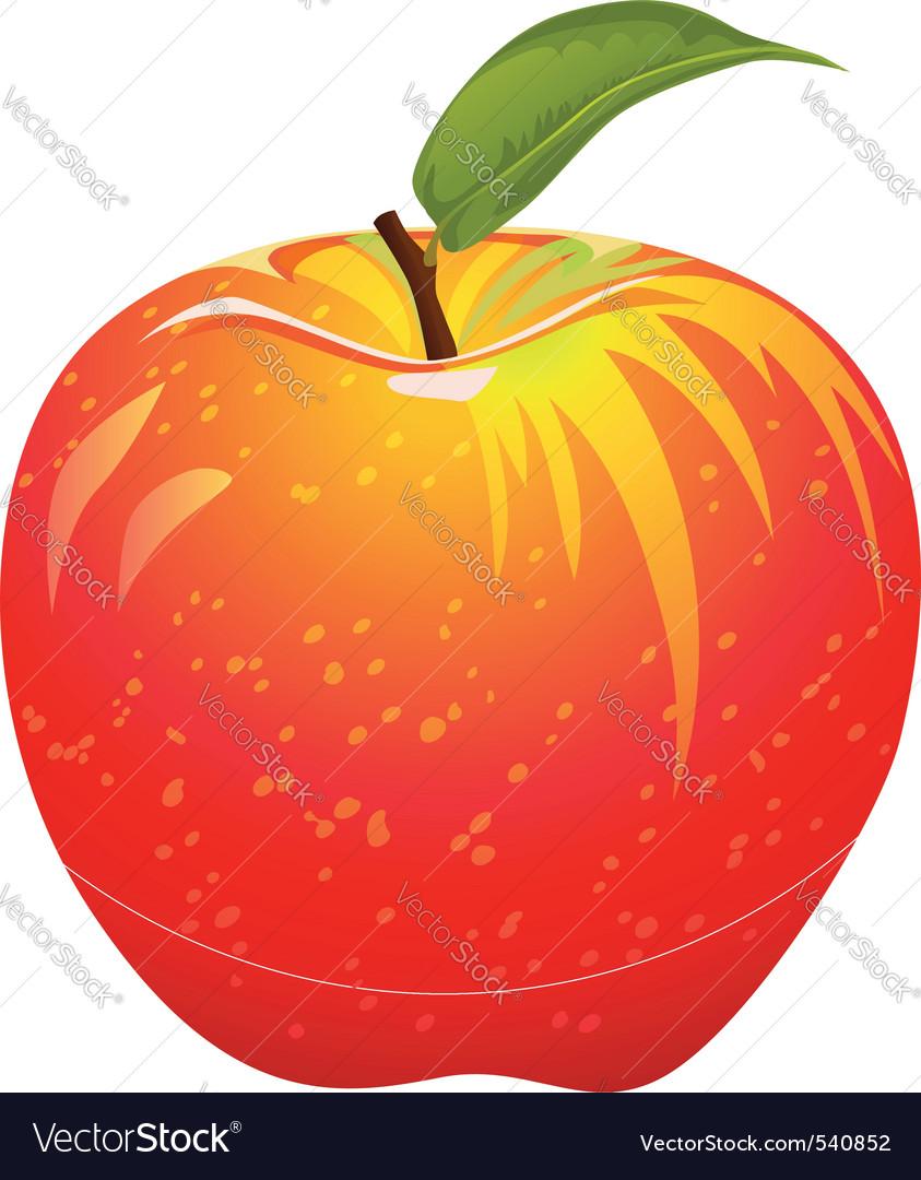 Juicy red apple vector | Price: 1 Credit (USD $1)