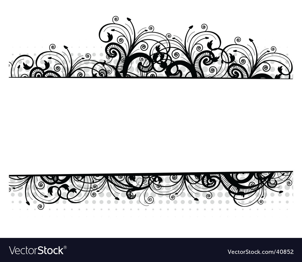 Illustration of a floral border vector | Price: 1 Credit (USD $1)